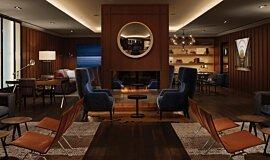 AKA Hotel Commercial Fireplaces Ethanol Burner Idea