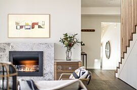 Firebox 720CV Curved Fireplace - In-Situ Image by EcoSmart Fire