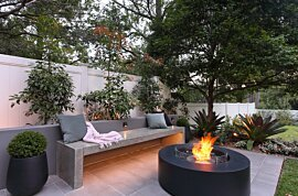Ark 40 Fire Pit - In-Situ Image by EcoSmart Fire