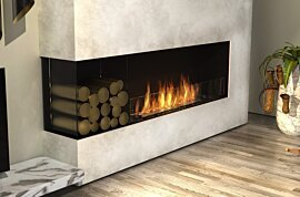 Left Corner Fireplace - In-Situ Image by EcoSmart Fire