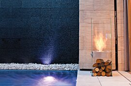 Ghost Freestanding Fireplace - In-Situ Image by EcoSmart Fire