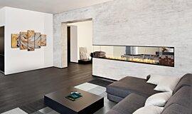 Living Area Linear Fires Flex Fireplace Idea