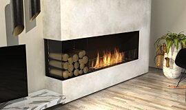 Living Room Linear Fires Flex Fireplace Idea