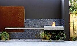 Private Residence Landscape Fireplaces Ethanol Burner Idea