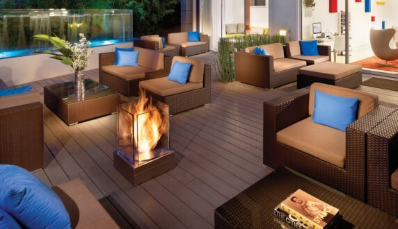 Kimber Modern Hotel - Mini T Outdoor Fireplace by EcoSmart Fire