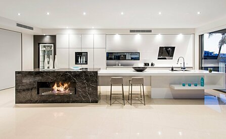 Kitchen Fireplace Ideas