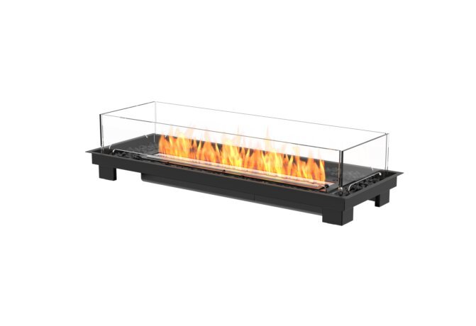 Linear 50 Fire Pit Kit - Ethanol - Black / Black by EcoSmart Fire