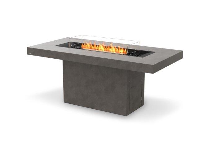 Gin 90 (Bar) Fire Table - Ethanol - Black / Natural / Optional Fire Screen by EcoSmart Fire