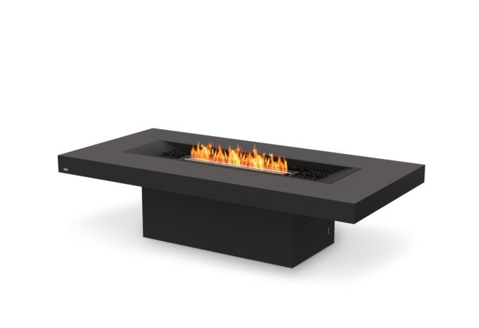 Gin 90 (Chat) Fire Table - Ethanol - Black / Graphite by EcoSmart Fire
