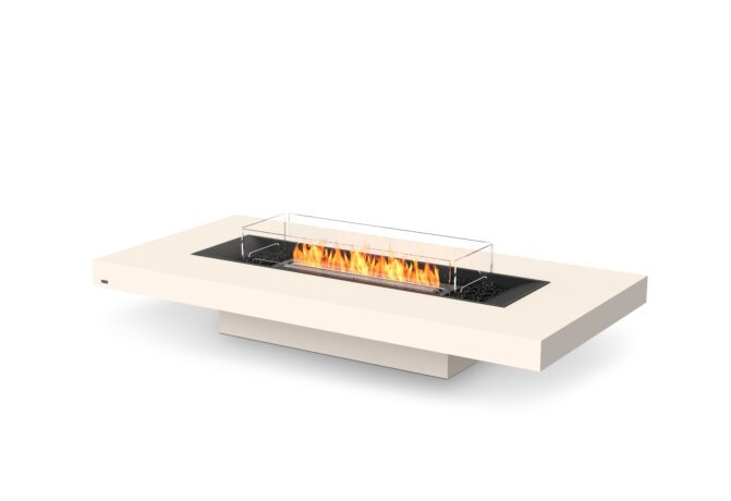 Gin 90 (Low) Fire Table - Ethanol - Black / Bone / Optional Fire Screen by EcoSmart Fire