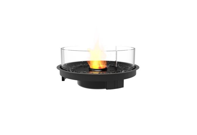 Round 20 Fire Pit Kit - Ethanol - Black / Black by EcoSmart Fire