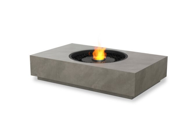 Martini 50 Fire Table - Ethanol - Black / Natural by EcoSmart Fire