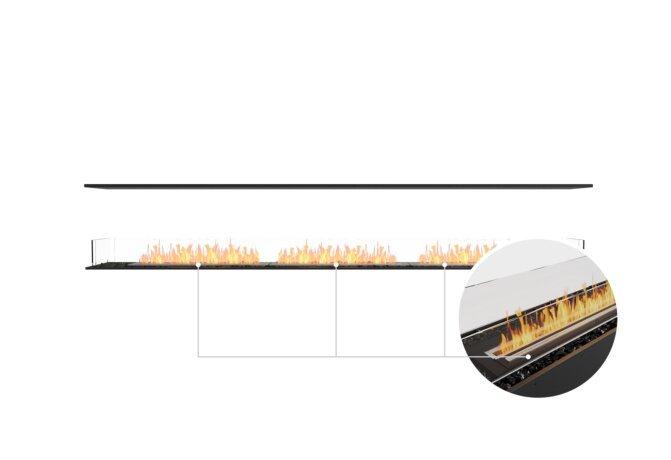 Flex 122IL Island - Ethanol - Black / Black / Installed View by EcoSmart Fire