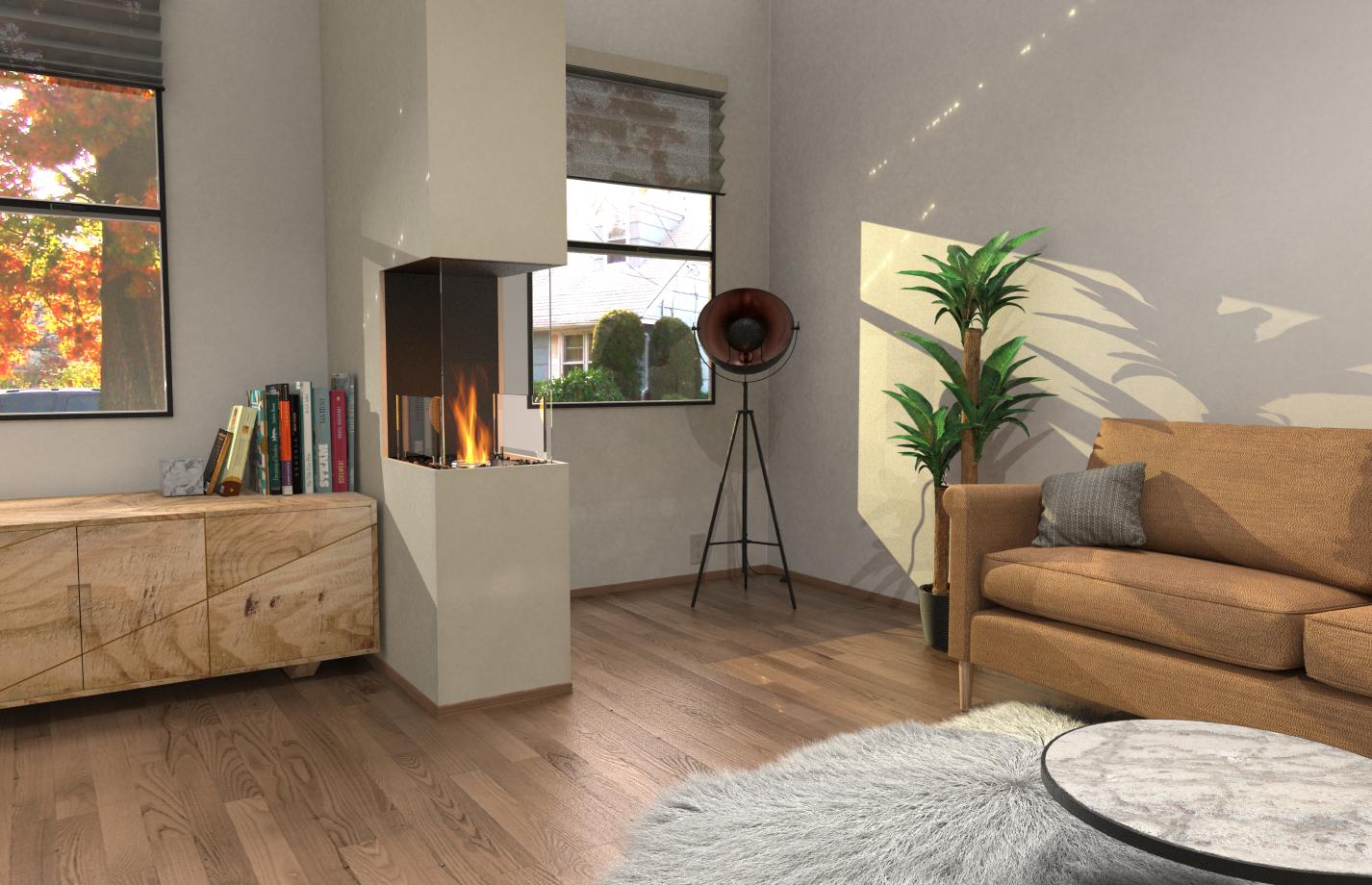 Flex 18PN Peninsula Fireplace