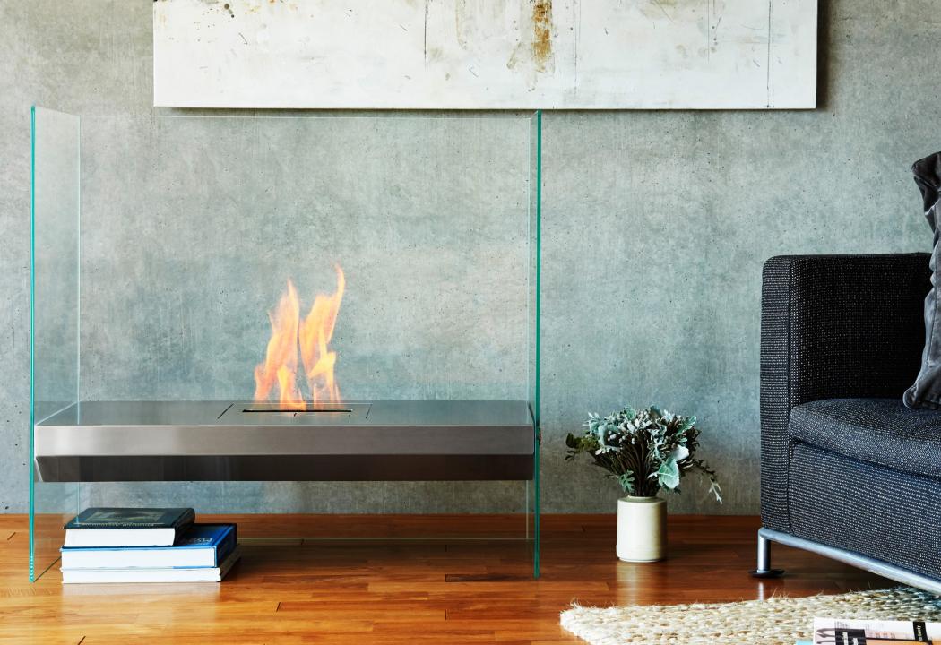 Igloo glass fireplace