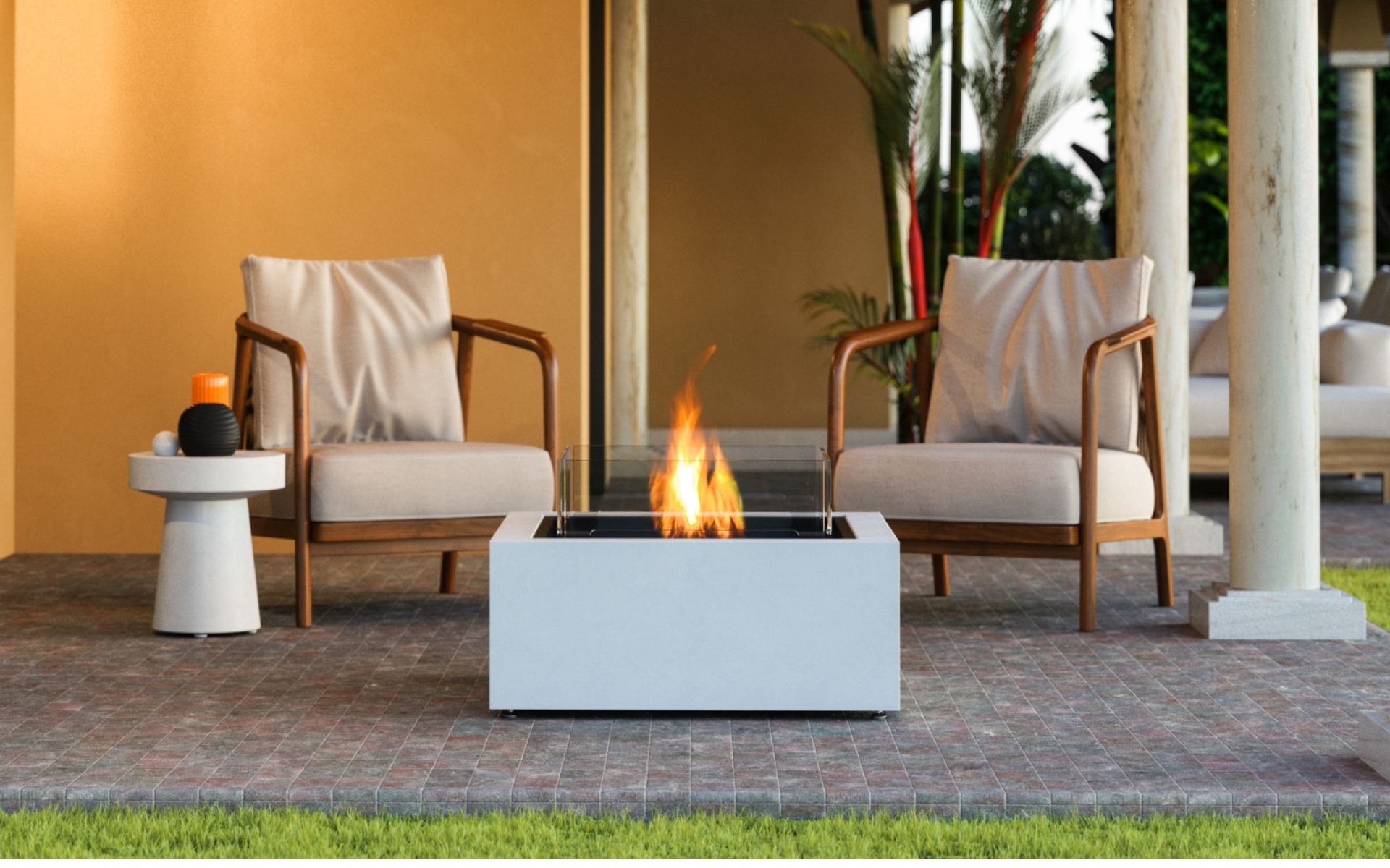EcoSmart Fire Base 30 Fire Table outdoor lounge